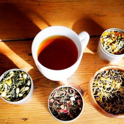 An assortment of Asheville Tea Company blends February