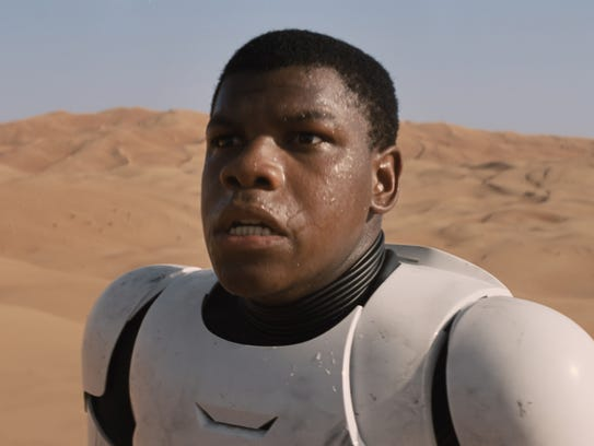 """""""The Force Awakens"""" star John Boyega in Stormtrooper"""