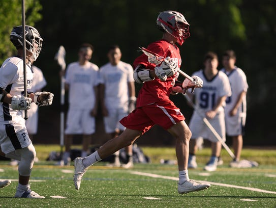 Boys lacrosse game between Fair Lawn and Paramus on