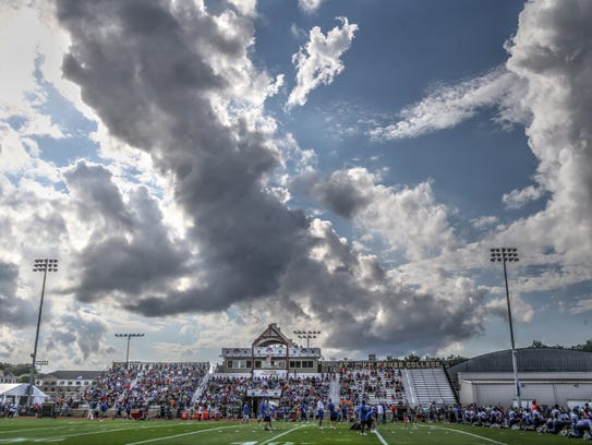 Striking clouds form over Buffalo Bills training camp