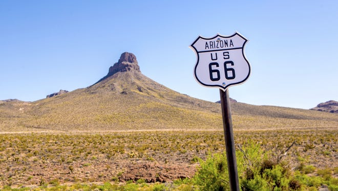 Arizona Route 66 Sign.
