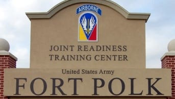 Some areas of Fort Polk are open to civilians for recreational use when training is not taking place, but they are off limits during training exercises.
