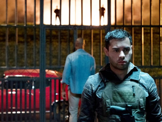 "Miguel (Gabriel Chavarria) is a Marine in ""The Purge."""