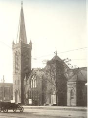 The original Central Presbyterian Church on North Main Street in Anderson.