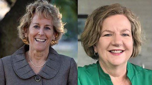 Ann Howard, left, defeated Valinda Bolton in the race to be the Democratic candidate in November for Travis County Precinct 3 commissioner.