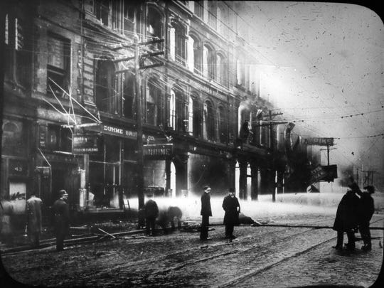 The splendid Pike's Opera House burned down for the second time on February 26, 1903.