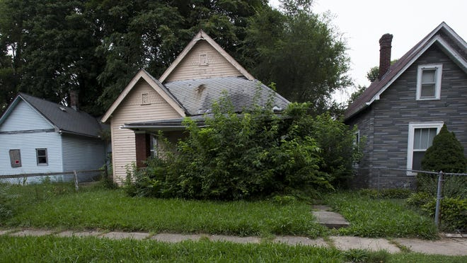 North Belleview Place, on Indianapolis' west side, is one of many streets in the city with large concentrations of abandoned homes.