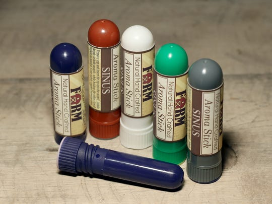Polly Schellinger makes 25 types of Aroma Stick inhalers, including one custom blended and distributed by a national hospital system.