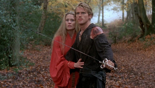 "Robin Wright and Cary Elwes in the 1987 Rob Reiner film ""The Princess Bride."""
