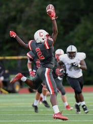 One-handed catch by Canton's Noah Brown on a pass from