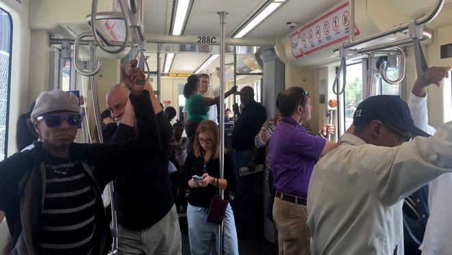 A look at the inside of the QLINE that Free Press reporter Elisha Anderson took as she headed towards the DIA for her selfie as part of the Free Press' Great QLINE Race last month.