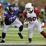 The Vikings and Cardinals played a preseason football game August 2014 in Minneapolis.