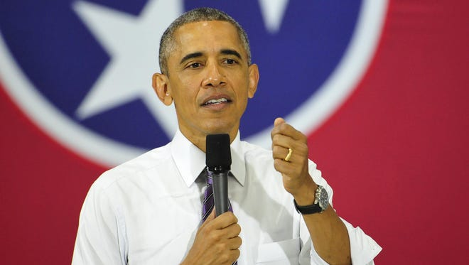 "President Barak Obama said at a speech Wednesday in Nashville that the way people use health care services is one reason why health insurance premiums go up, and that state insurance commissioners should not ""passively"" review rate requests."