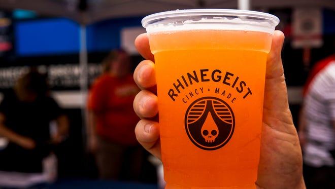 Rhinegeist's Strawberry Basil Dodo beer Thousands was a limited release at Taste of Cincinnati on Fifth Street in downtown Cincinnati Saturday, May 27, 2017.