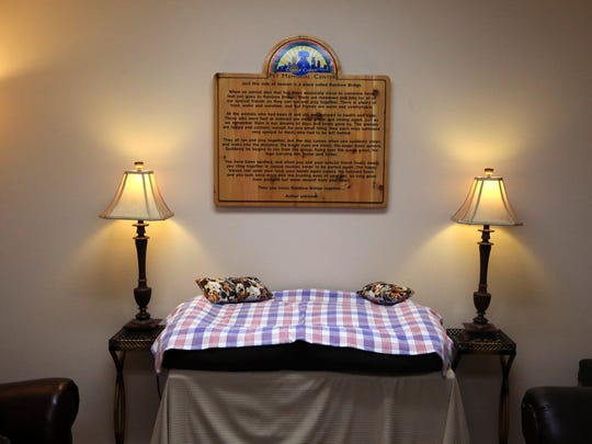The Corpus Christi Pet Memorial Center on Holly Road is the cityÕs only pet memorial center. This private room is an place where families can say goodbye to their pets in private.
