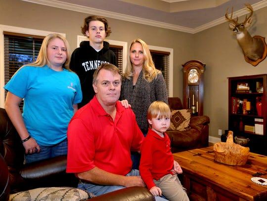 The Carlisle family, front row, Bryon Carlisle and