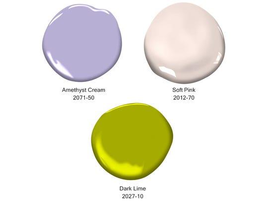 Benjamin Moore paint colors were used in the Ridgewood playhouse.