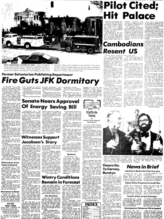 Herald Times Reporter JFK Prep fire