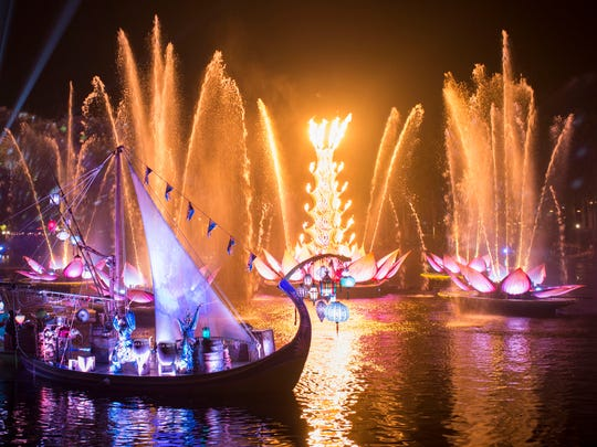 Rivers of Light is an all-new nighttime show at Disney's Animal Kingdom at Walt Disney World Resort. Rich in symbolism and storytelling, the elaborate theatrical production takes guests on a breathtaking emotional journey -- a visual mix of water, fire, nature and light all choreographed to an original musical score. Rivers of Light will be performed on select nights.