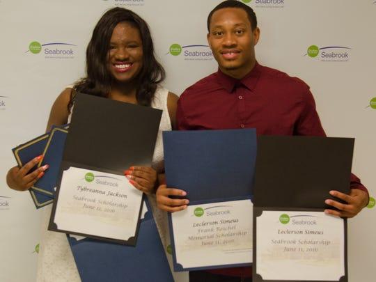 4) Tybreanna Jackson (Academy Charter High School) and Leclerson Simeus (Neptune High School)