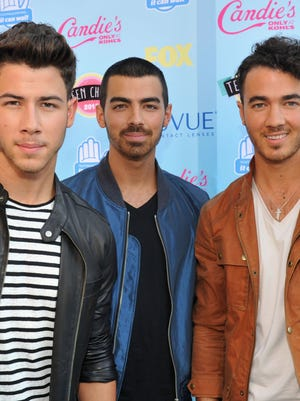 The JoBros in August, when they were still a band.