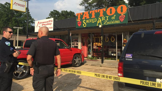 A former tattoo shop owner agreed to a plea deal that sent him to prison for four years for the shooting death of a man last year in Alexandria.