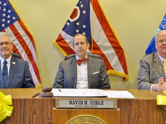 Clermont County Commissioners David Painter, David Uible and Ed Humphrey.