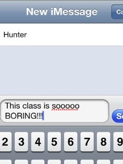 Heads up: you're not fooling anyone by texting in class!