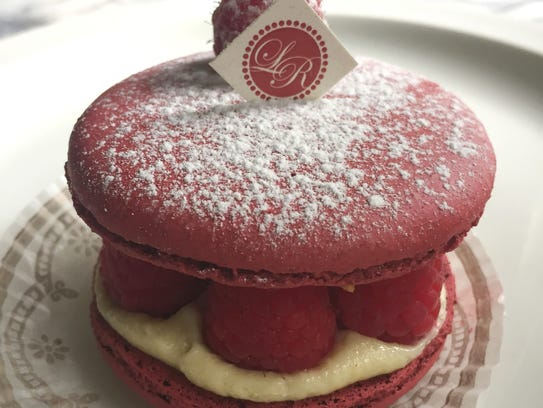 A dacquoise from Le Reve Patisserie & Cafe, 7610 Harwood
