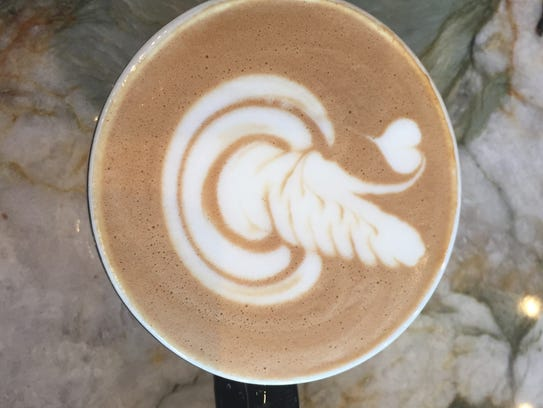 The Garden Party Latte from Frothy Monkey uses milk