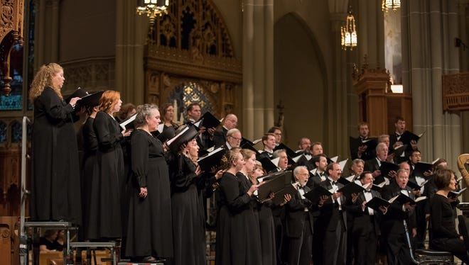 The May Festival Chamber Choir was featured in two world premieres on Sunday.