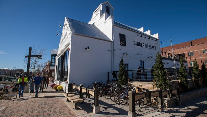 Scenes from Monday, Nov. 13, 2017, at the ribbon cutting ceremony of the Ginger And Baker restaurant at the corner of Linden Street and Willow Street in Fort Collins, Colo.