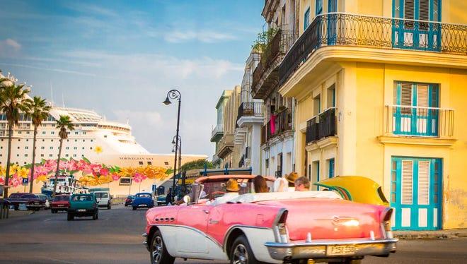 Norwegian Sky in Havana, Inaugural Sailing May 2017.
