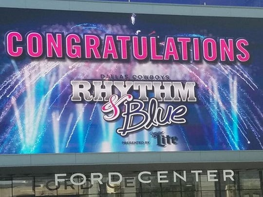The Dallas Cowboys Rhythm and Blue Dance Team and Drumline was announced Friday.