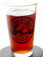 News Leader and Stable Craft pint glass