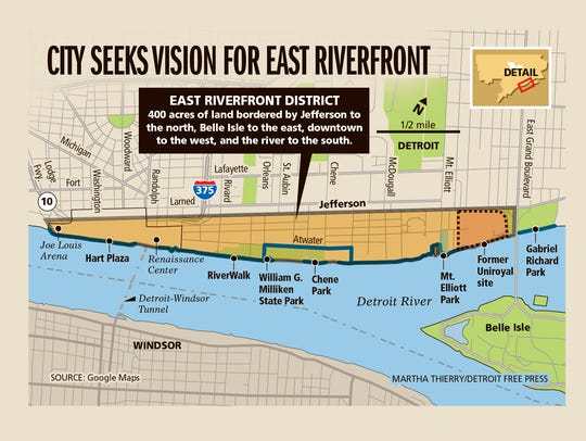 City seeks vision for east riverfront.