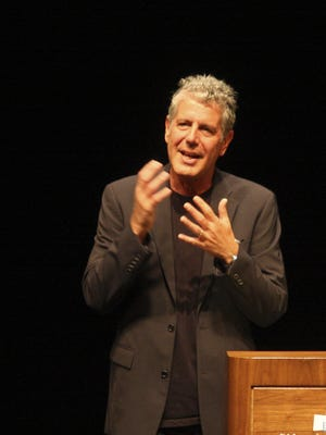 Anthony Bourdain, food and restaurant critic and man about the world, spoke at the Idea Festival at the Kentucky Center.  September 25, 2009