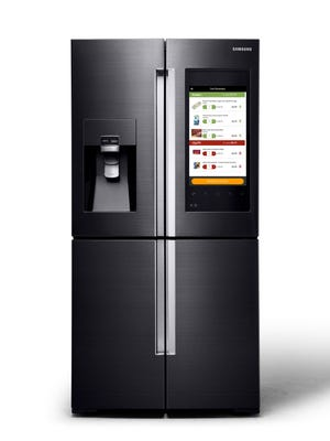 You can order groceries through the MasterCard app on this Samsung fridge.
