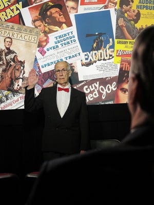 """Bill Gorman plays Dalton Trumbo in the Southern Tier Actors Read production of """"Trumbo: Red, White and Blacklisted."""""""