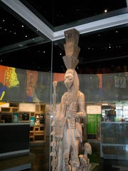 African statue that connects the past to the present in the gift shop area of the Smithsonian Museum of African American History and Culture.