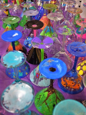 Artini is the sole fundraiser for the Bossier Arts Council. Funds raised include profits from hand-painted martini glasses.