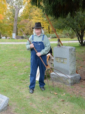 Rick Danes portrayed Luther Lyon in the Plymouth Historical Museum's 2016 Plymouth Ghosts Cemetery Walk.