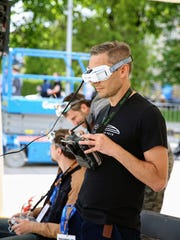 During the drone races June 2-4 at Dover International