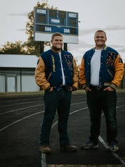 Layne Todd, left and Joey Groeber have played football