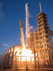 A SpaceX Falcon 9 rocket launched the National Reconnaissance Office's classified NROL-76 mission from Kennedy Space Center on May 1, 2017. The same booster, which landed at Cape Canaveral, will attempt to launch GovSat-1 from Launch Complex 40 at 4:25 p.m. Tuesday, Jan. 30, 2018.