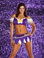 Minnesota Vikings cheerleader Karmen Nyberg is a Lincoln High and Augustana University alum.