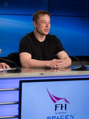 SpaceX CEO Elon Musk spoke to the news media at NASA's