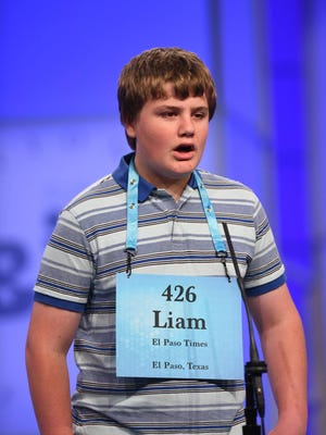 Thirteen-year-old eighth grader Liam Nyikos, pictured at the Scripps National Spelling Bee in Washington D.C. on Tuesday, May 29, 2018, competed in his last year of the spelling bee. Students may compete through eighth grade.