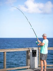 Anglers take full advantage of the 1,545-foot Navarre
