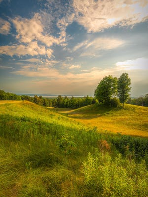 The Offield Viewlands in Harbor Springs offers some spectacular views from trails on a former golf course recently opened to the public. Contributed photo